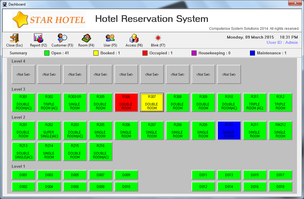 Hotel reservation system computerise for Design hotel reservation system