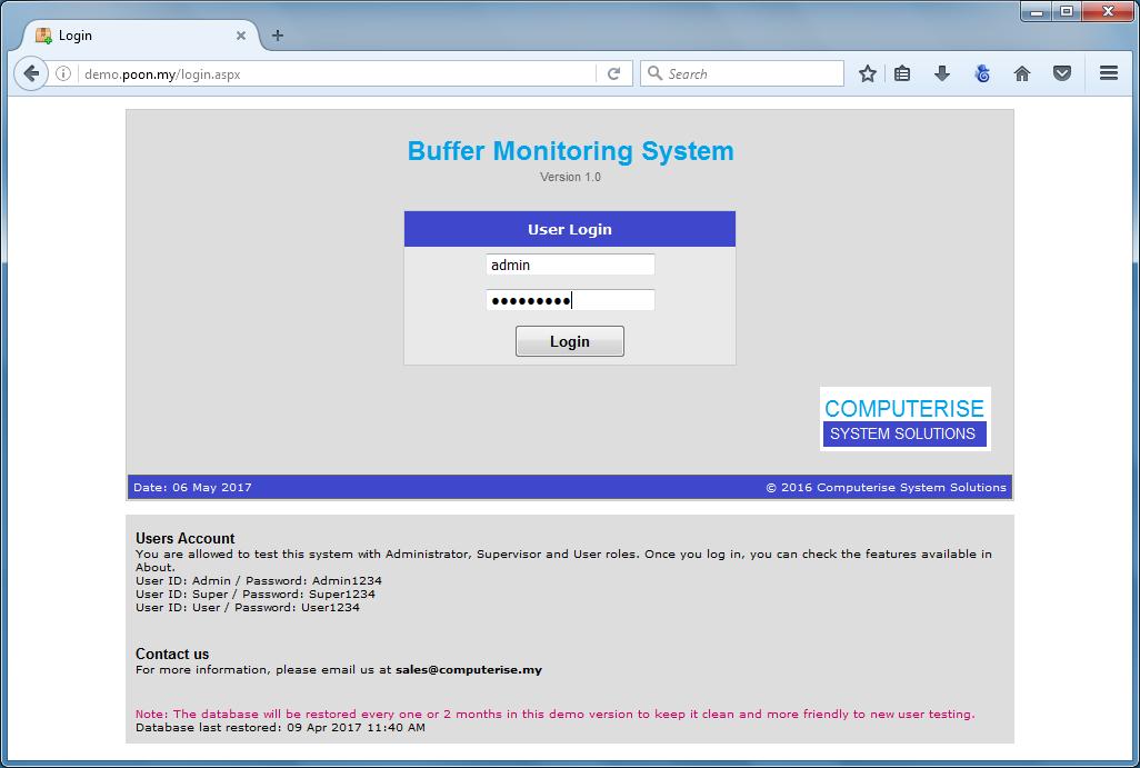 Buffer Monitoring System