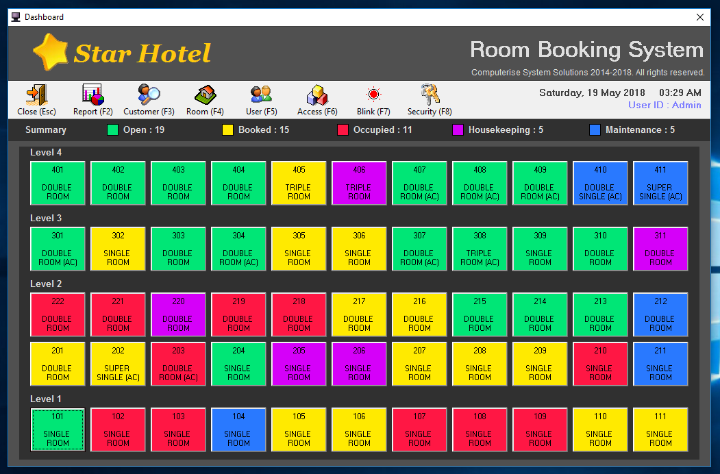 Hotel Room Booking System